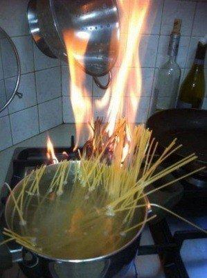 spaguetti a fuego lento