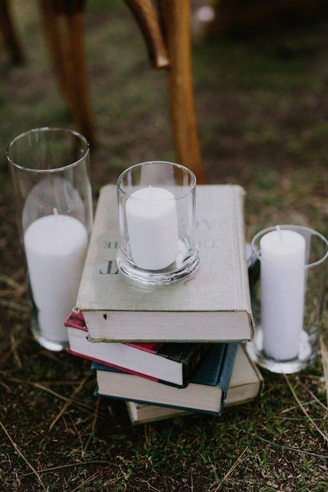 libros y velas