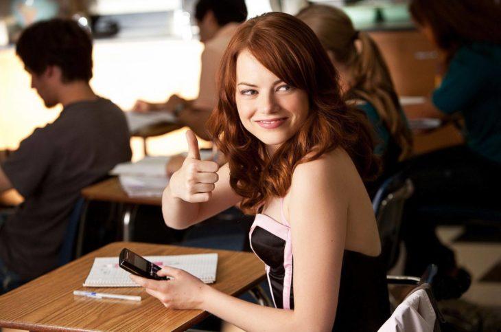Emma stone en la película Easy A