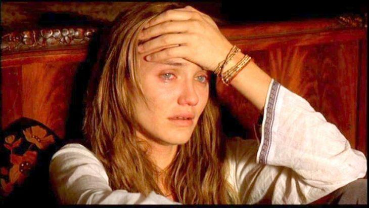 Cameron Diaz llorando