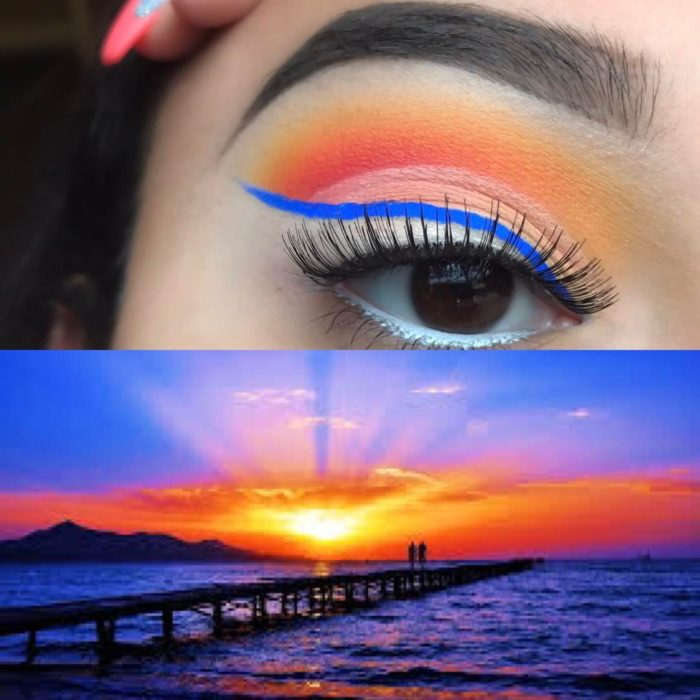 sunset make up 1