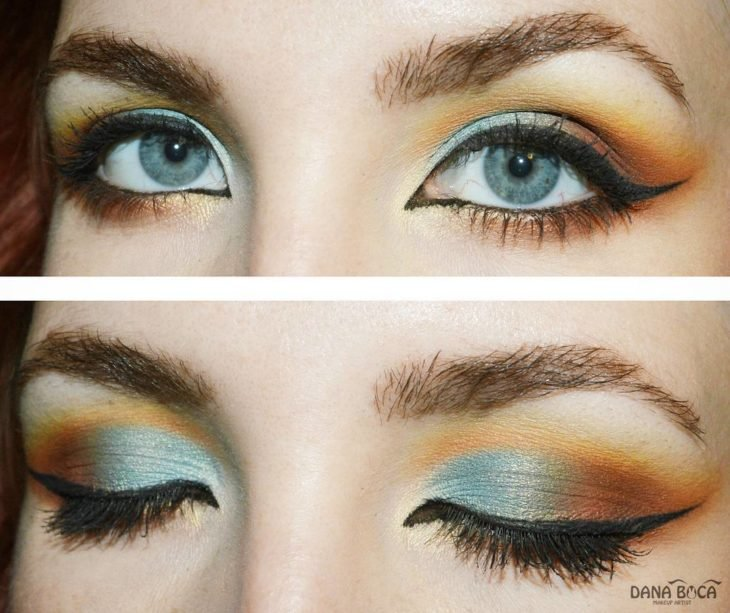 sunset make up atardecer verde