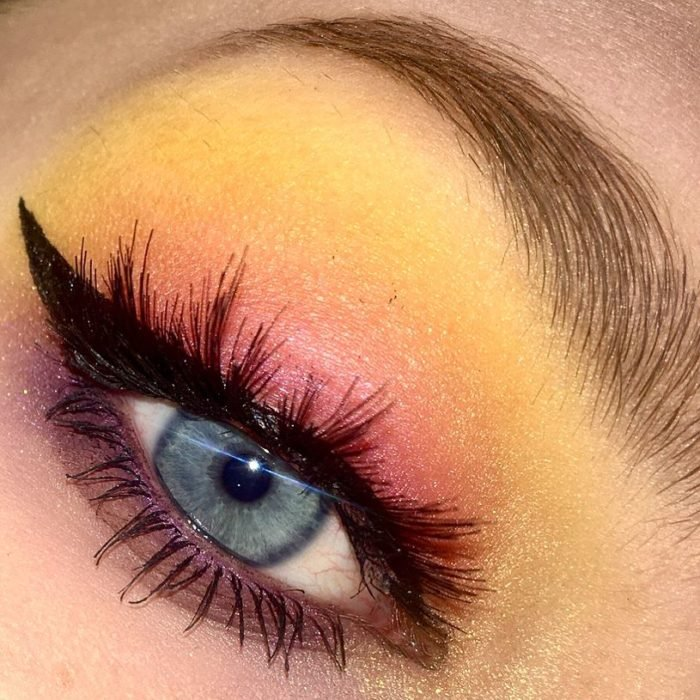 sunset make up estilo atardecer