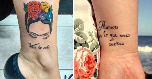20 Tatuajes de frases en español que son la mejor poesía en tu piel