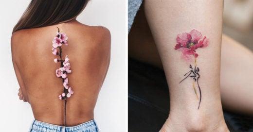 10 Artistas del tatuaje muestran los mejores diseños para lucir esta primavera