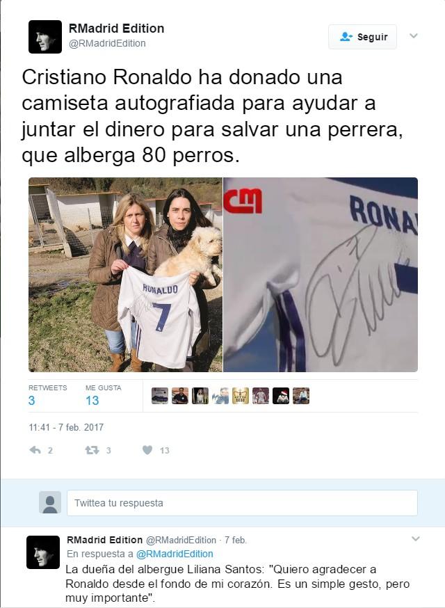 tweet real madrid editado en español