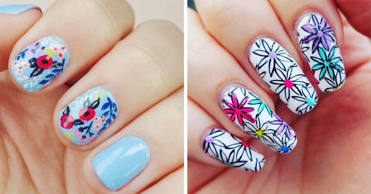 20 Diseños florales que desearás tener en tus uñas