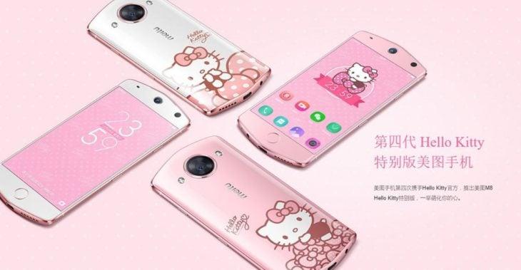 cuatro telefonos rosas