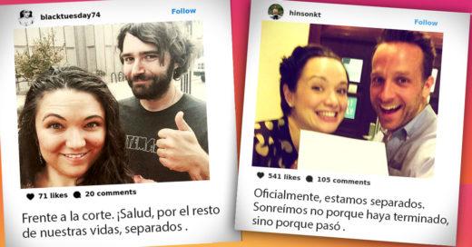 13 Exparejas comparten 'selfies' en Instagram después de firmar el divorcio