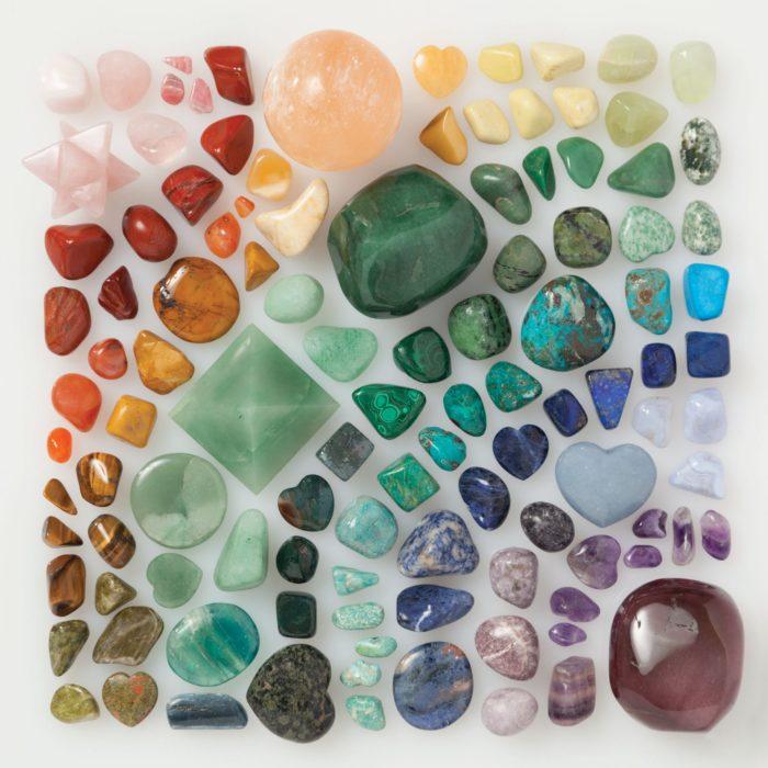 cuarzos ordenados por color