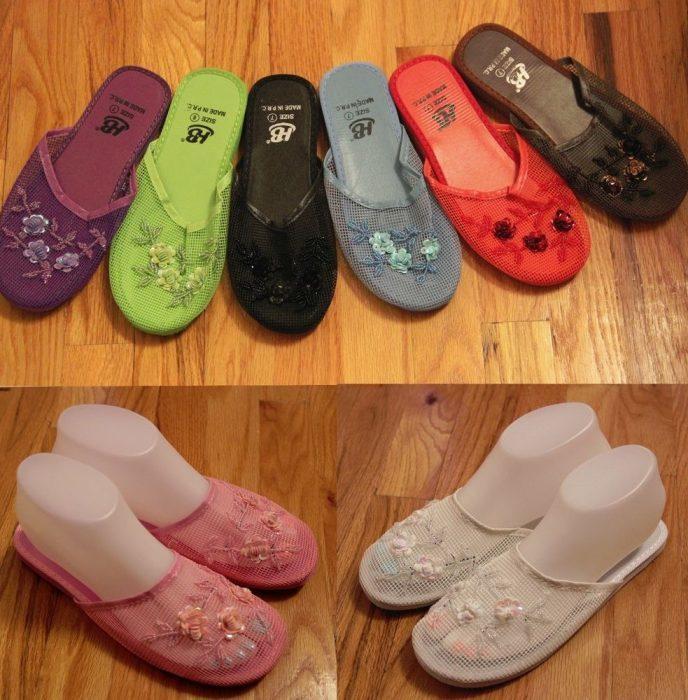 sandalias de plastico