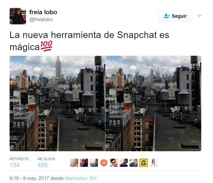 última actualización de snapchat