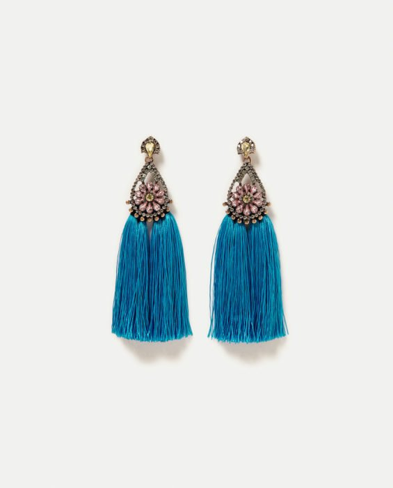 Aretes color azul