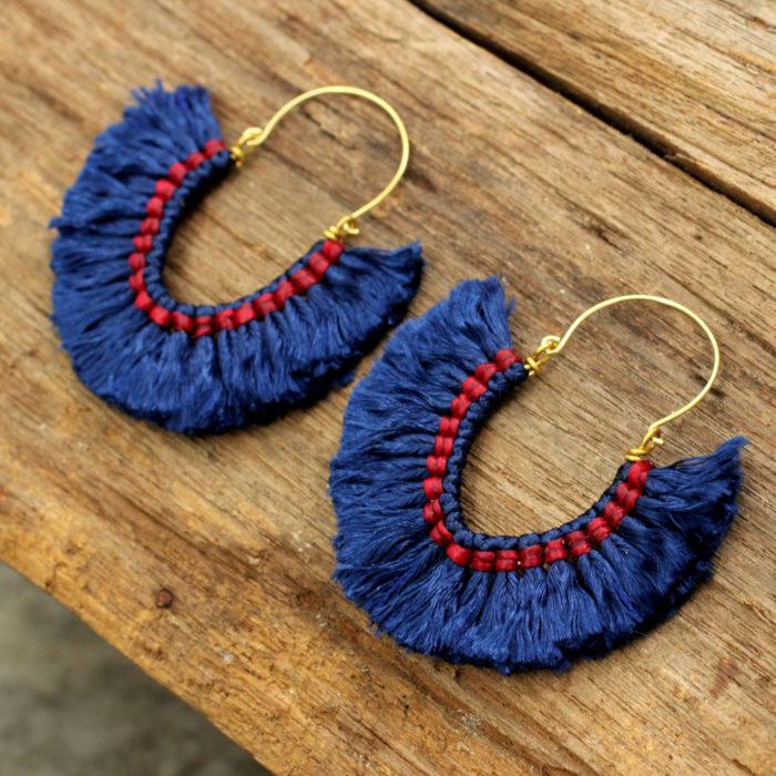 Aretes color azul