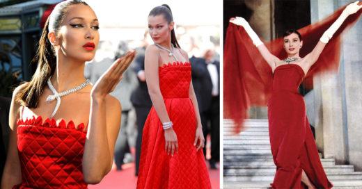 Bella Hadid recuerda a Audrey Hepburn en Cannes