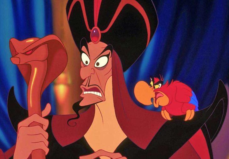 caricatura de jafar villanos de Disney