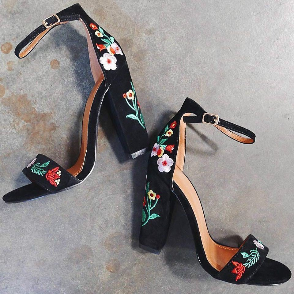 color zapatos de negro de zapatos tacon tqqrx1zURw