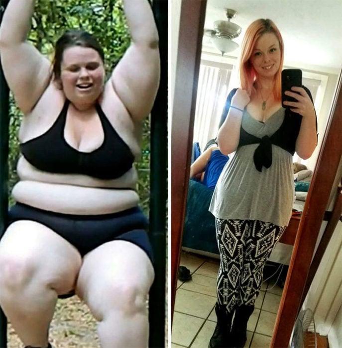 chica bajo de peso