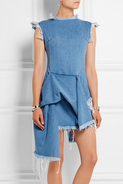 Vestido de mezclilla asimetrico