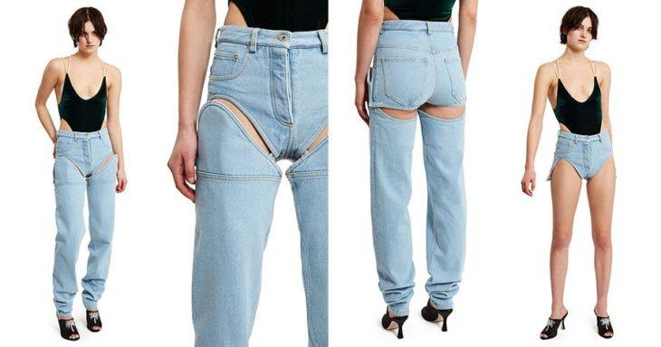 Chica usando unos jeans que se convierten en short