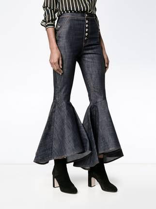 Pantalones de mezclilla con mangas de flamenco