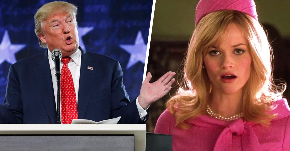 Al parecer Donal Trump ha plagiado el discurso de Elle Woods