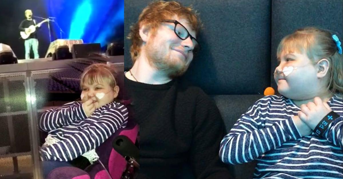 Ed Sheeran sorprende con un concierto privado a pequeña con una grave enfermedad