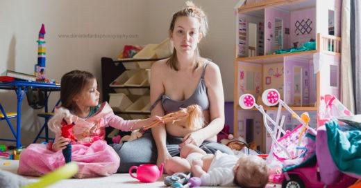 Madre comparte en una serie de fotografías la realidad de vivir con depresión postparto