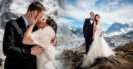 Ellos eligieron el monte Everest para unir sus vidas para siempre
