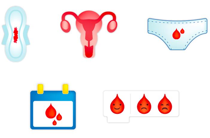 Emojis para definir la menstruación