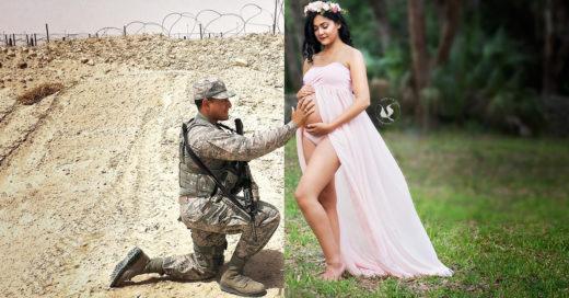 Esta pareja fue separada por la guerra, aún así tuvo la mejor sesión de fotos de maternidad
