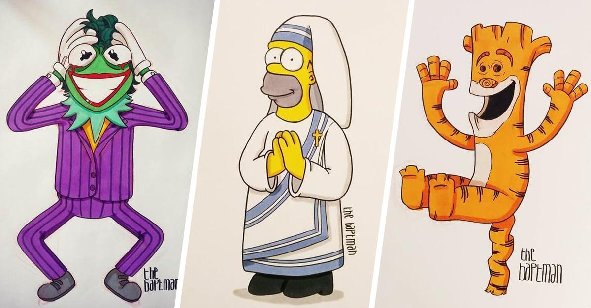 Este artista dibuja ilustra a tus artistas favoritos de una forma muy especial