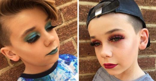 Este niño de 10 años conquista Instagram con su increíble habilidad para el maquillaje