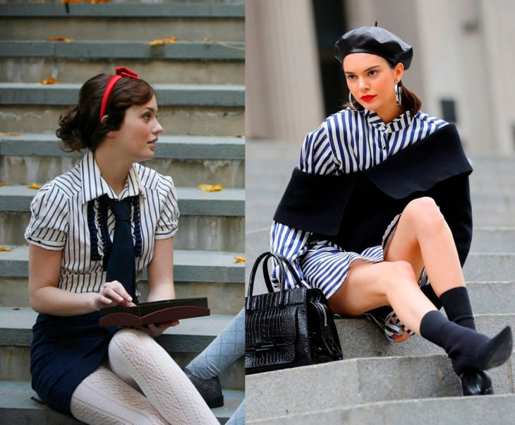 Kendall jenner sesión homenaje a Blair Waldorf