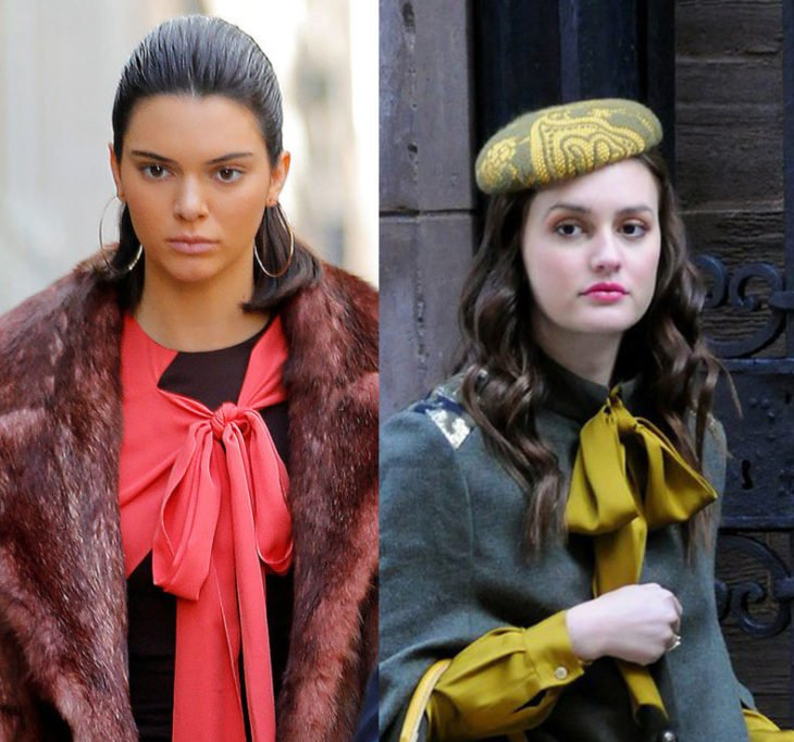 Kendall jenner igual que blair warldorf