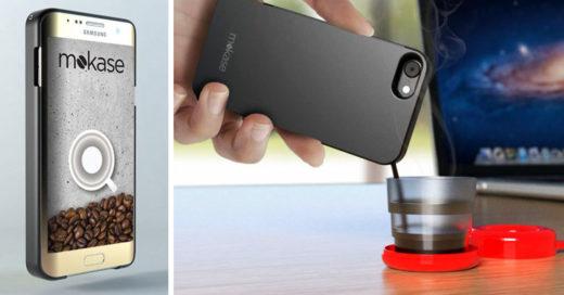 Preparar café ahora es muy sencillo con esta case para celular