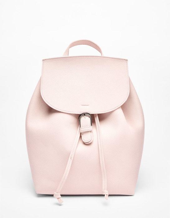 Mochila en color rosa