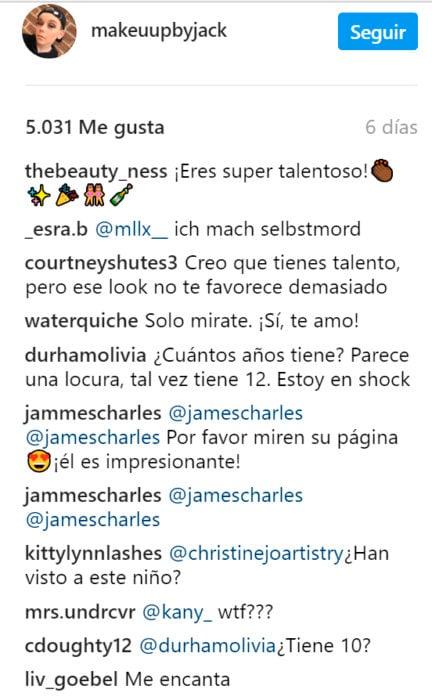 Comentarios a un niño que se maquilla