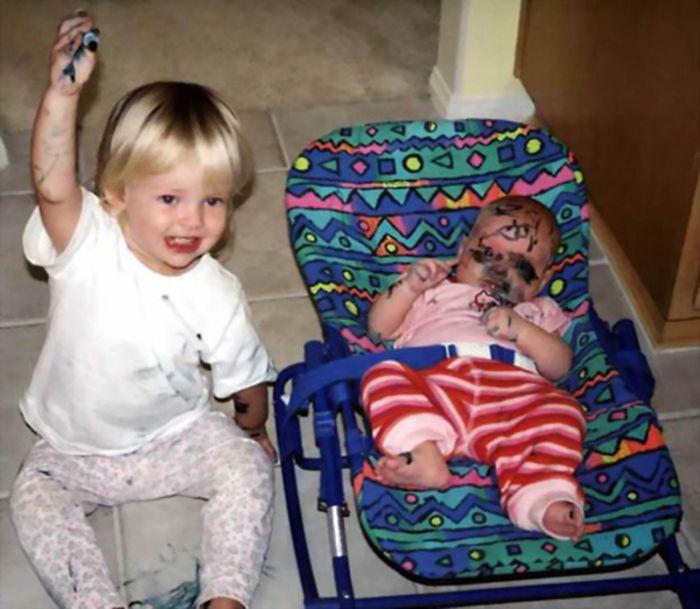 Reaccion niño que no quiere tener hermanos