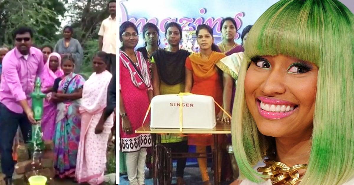 Nicki Minaj ama ayudar a quien más lo necesita