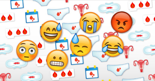 emoji menstruación