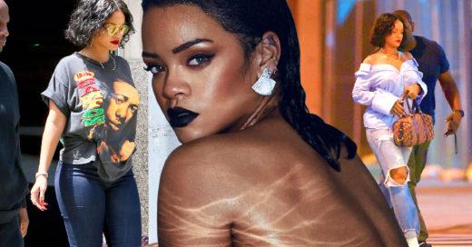 Rihanna con kilos extra