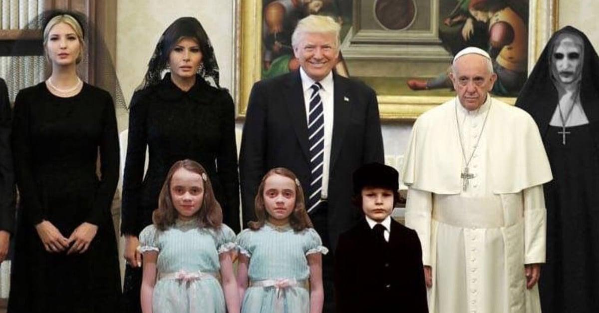 15 Divertidos memes muestran la reacción del Papa ante la visita de Trump al Vaticano