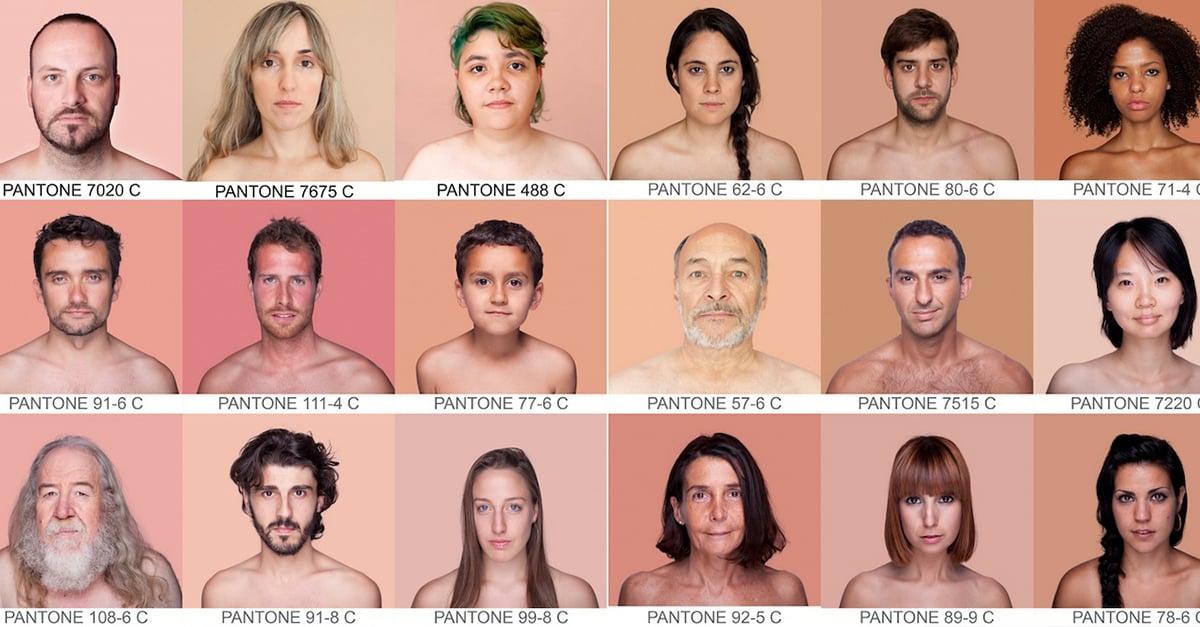 PANTONE HUMANO FOTÓGRAFA REGISTRA TODA LA GAMA DE COLORES DE PIEL EXISTENTES