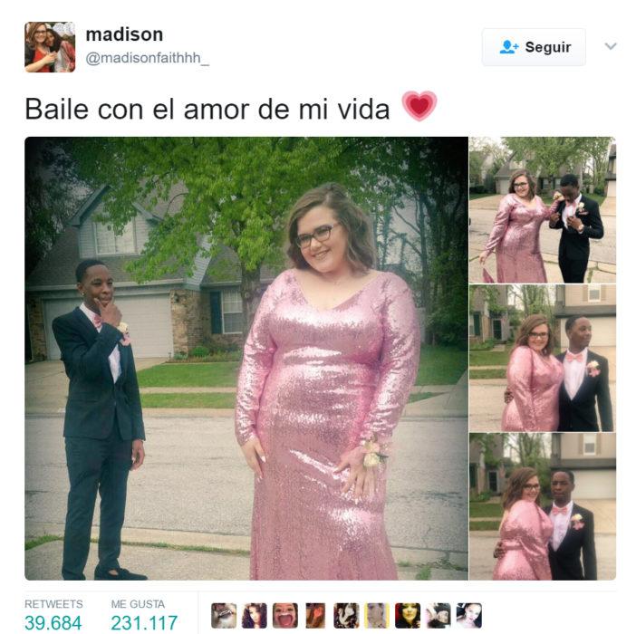 Publicación en twitter de una pareja que después recibió comentarios ofensivos