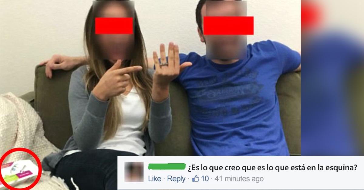 Pareja olvida esconder prueba de embarazo durante anuncio de compromiso