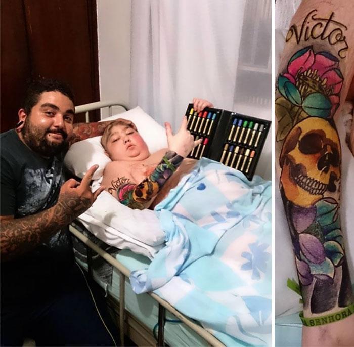 tatuo a un niño