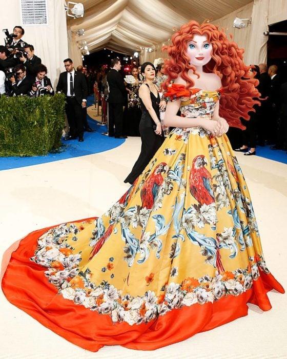 Princesas de Disney en la gala del met