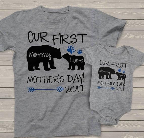 Camisa y pañalero para una nueva mamá