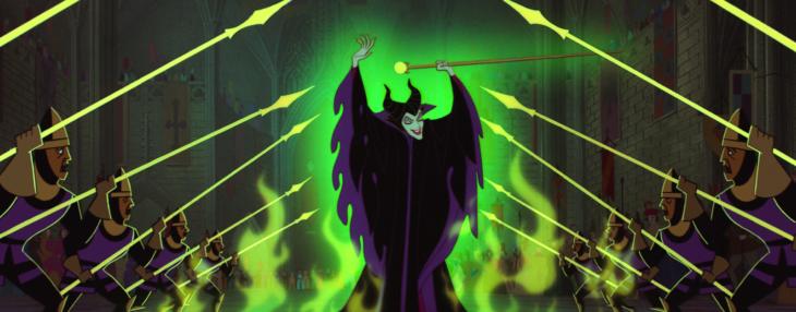 caricatura de maléfica villanos de disney